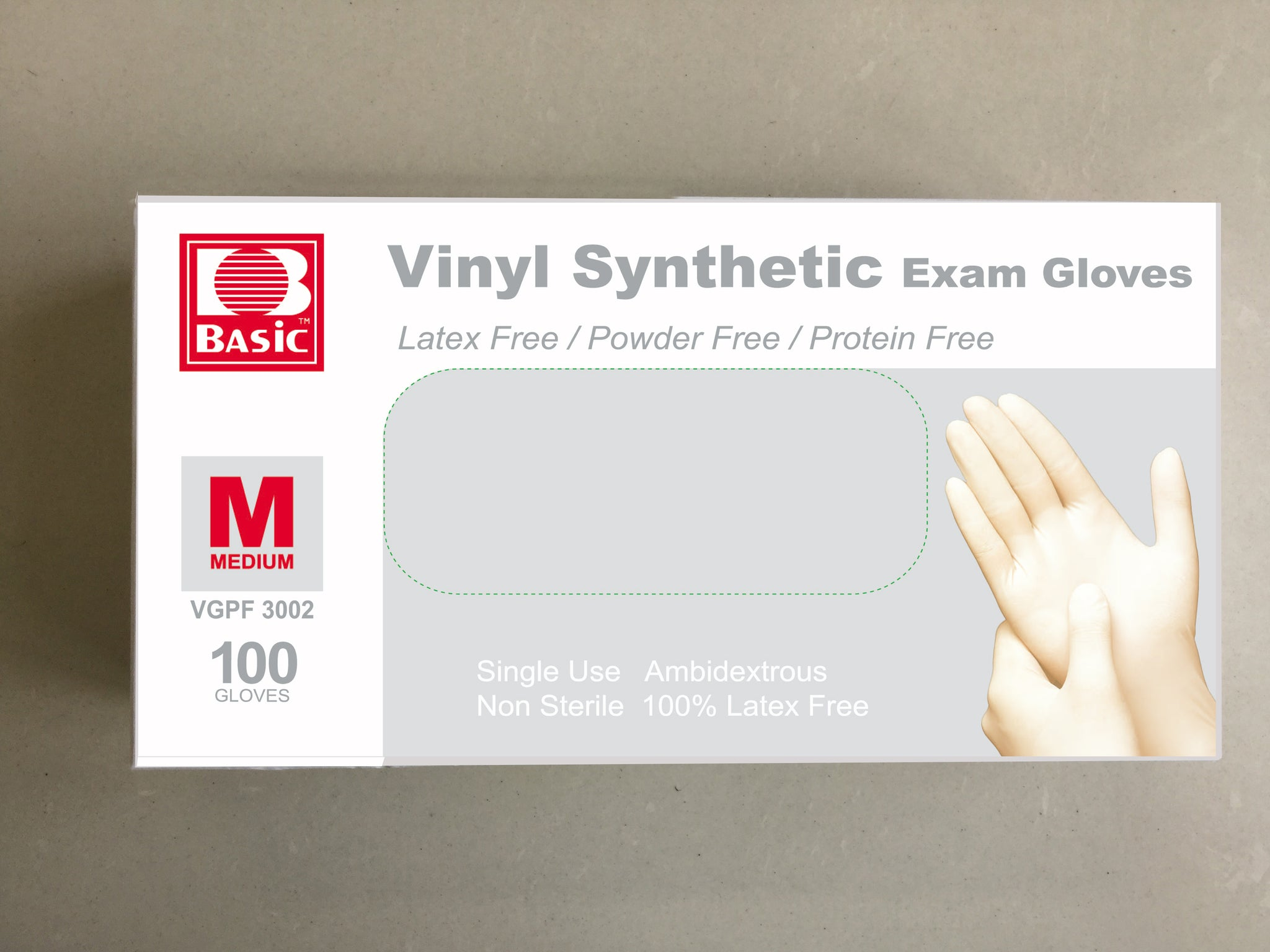 Box of Disposable Vinyl Gloves - 100 PCS