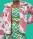 Pink moo  jacket (choose your length)