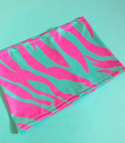 Electric zebra bandeau