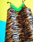 Tiger sass qween mini dress (CHOOSE YOUR TRIM!)