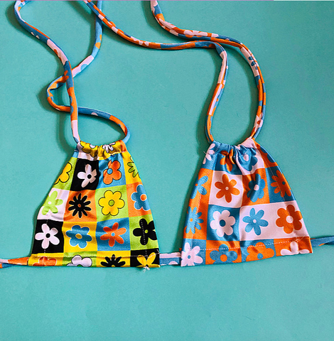 Floral Groove mix&match bikini top (4 COLOURS!)