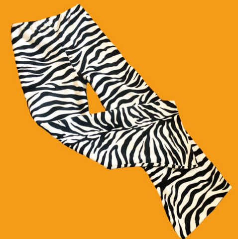 Fleece zebra flares