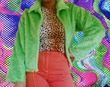 Acid funk cropped jacket
