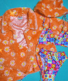 Peach daisy jacket (Choose your length)