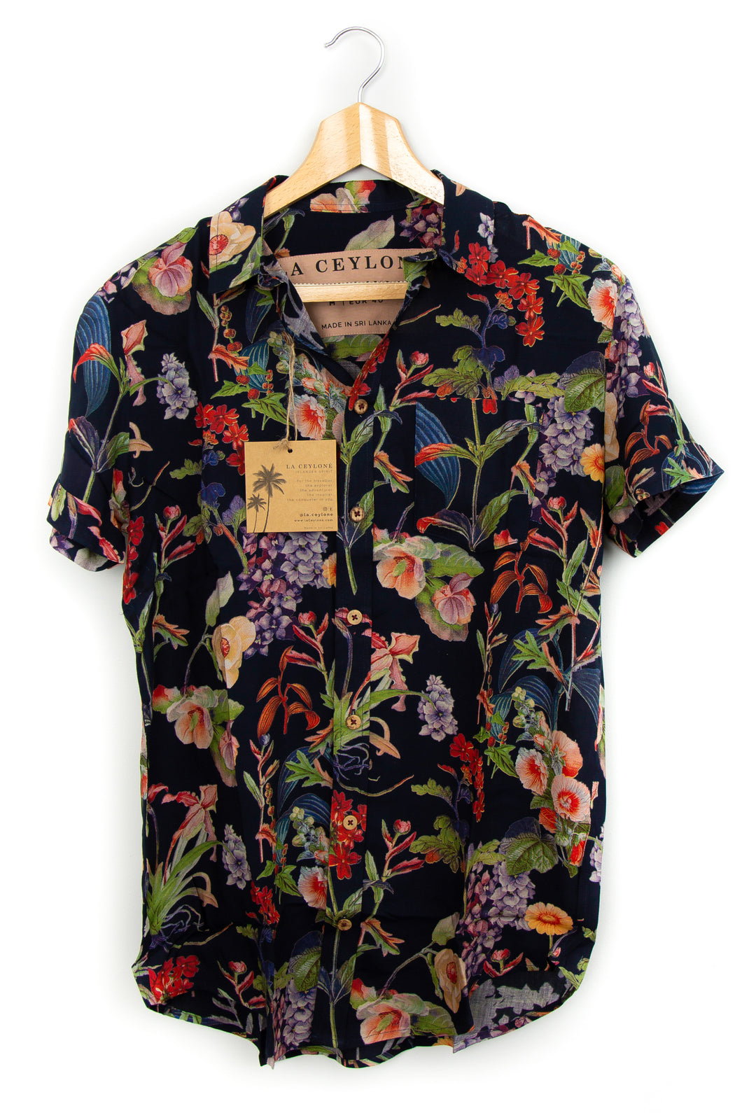 Garden of Tropics floral Hawaiian shirt blue