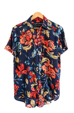 Load image into Gallery viewer, tropical blue hawaiian shirt