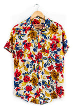 Load image into Gallery viewer, floral glitter shirt hawaiian