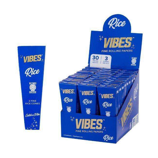 Vibes King Size Cones 20 Cones Per Pack