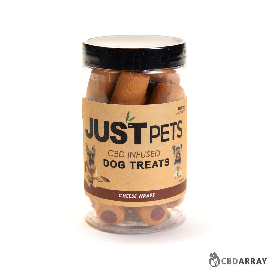 Just CBD Pet Treats Cheese Wraps