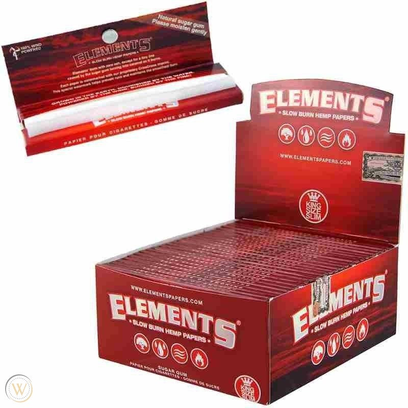 Elements Ultra Thin Red rolling paper