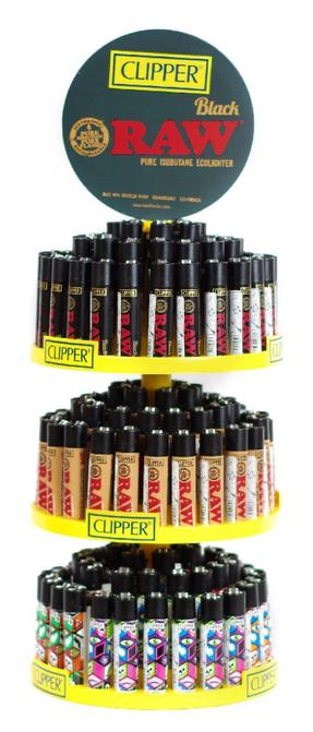 3 Tier Carousel Clipper Lighter Display Case (Raw Mix)