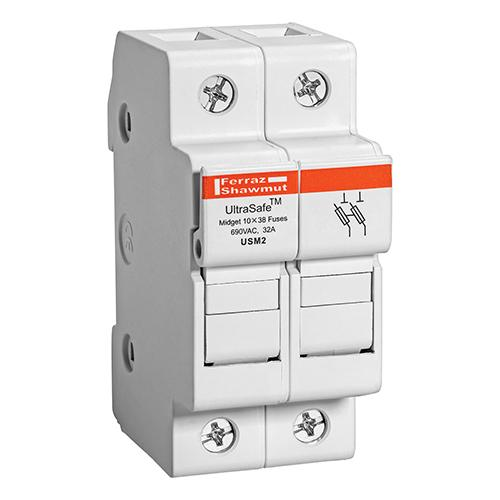 USM2 - Fuse Holders 800V 30A Midget 2-pole No Indicator