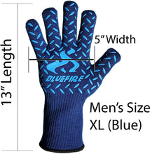 Load image into Gallery viewer, (MENS) BlueFire Pro Heat Resistant Gloves (Pair)