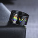 11mm Black Love Spinner Ring