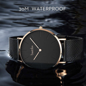 5.5mm Ultra Thin Waterproof Quartz Mens Watch