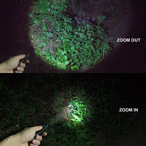 5 mode LED Zoomable outdoor Flashlight