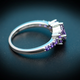 925 Silver Aquamarine Ring for women