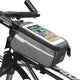 light gray Bike Phone Front Frame waterproof Bag