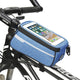 blue Bike Phone Front Frame waterproof Bag