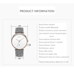 Designer Unisex quartz watch