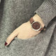 Retro Fashion brown leather  Casual Ladies Quartz Wrist Watch