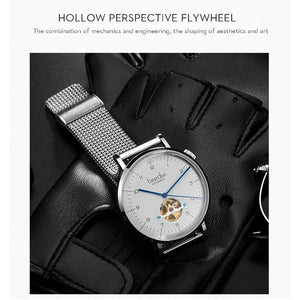 Ultra Thin Automatic waterpoof Tourbillon Sport Wristwatch for men