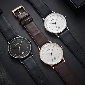Waterproof Date Leather watch for men