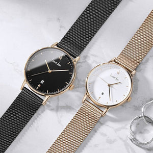 Waterproof Stainless Steel Quartz unisex Watch