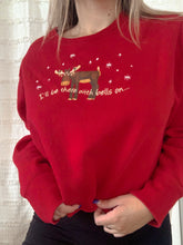 Load image into Gallery viewer, Reworked moose holiday sweatshirt