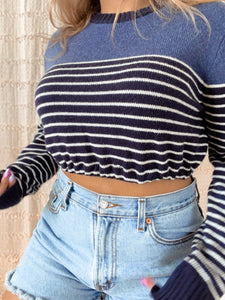 Reworked striped sweater