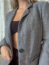 Load image into Gallery viewer, Gray plaid jacket