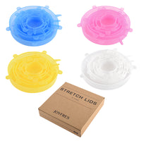 6 pcs Silicone Stretch Lids
