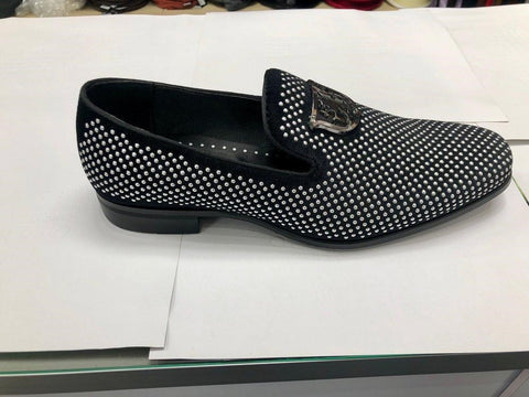 Swagger-Black-and Silver-Slip-On