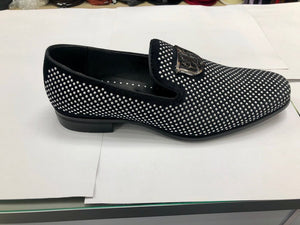 Swagger Black and Silver Slip On