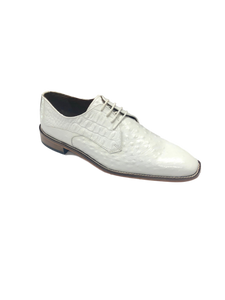 Russo Leather Sole Plain Toe Oxford White