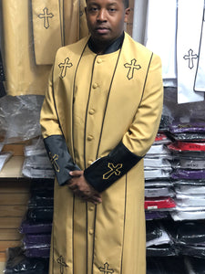 Mens Gold/Black Clergy Robe With Matching Stole