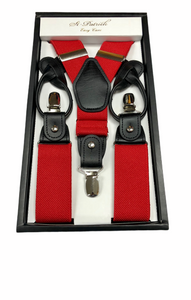 Red Suspenders Button & Clip Convertible