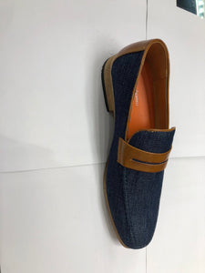6768 Antonio Cerreli Denim Slip on Shoe
