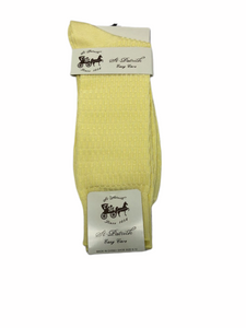 Basket Weave Dress Socks Yellow