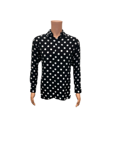 Pronti Black And White Polka Dot Shirt S6354
