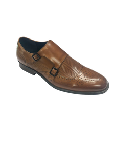 Mabry Moc Toe Double Monk Strap Tan