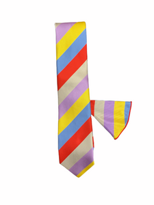 Verse 9 Tie with Matching Handkerchief