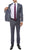 Milano Mens Grey Slim Fit Peak Lapel 2 Piece Suit - Ferrecci USA