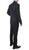 Moda Plaid Check Navy Blue 2 Piece Slim Fit Suit - Ferrecci USA