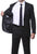 Parker 2 Piece Slim Fit Black Striped Tone on Tone Wool Suit - Ferrecci USA