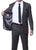 Parker 2 Piece Slim Fit Charcoal Striped Tone on Tone Wool Suit - Ferrecci USA