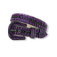 DNA Premium Studded Rhinestone Belt Purple/Black