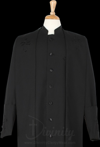 Mens Black/Black Clergy Robe With Matching Stole
