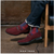 Neville Moc Toe Bit Slip On Oxblood