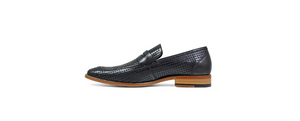 Belfair Moc Toe Penny Slip On Black